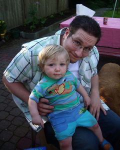 Griffin with Uncle Andrew