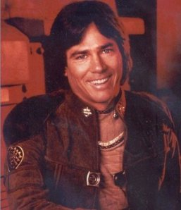 Richard Hatch as Apollo on Battlestar Galactica
